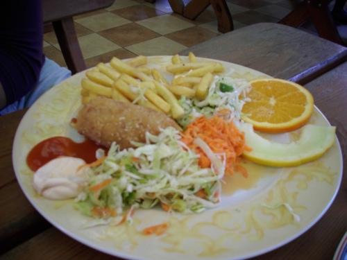 """Porcja obiadowa w oliwskim zoo - Bar """"Łabędź"""""""