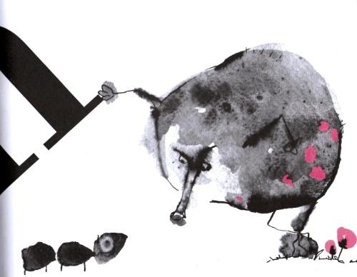 """M jak Mrówkojad (rys. Joanna Rusinek, ilustracja pochodzi z książki """"Limeryki"""" Michała Rusinka)"""
