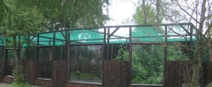 Nowa woliera rysia w zamojskim zoo (fot. Zoo Zamość)