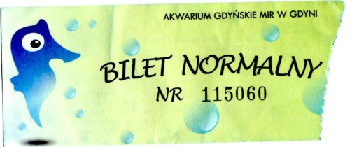 Bilet normalny do Akwarium Gdyńskiego