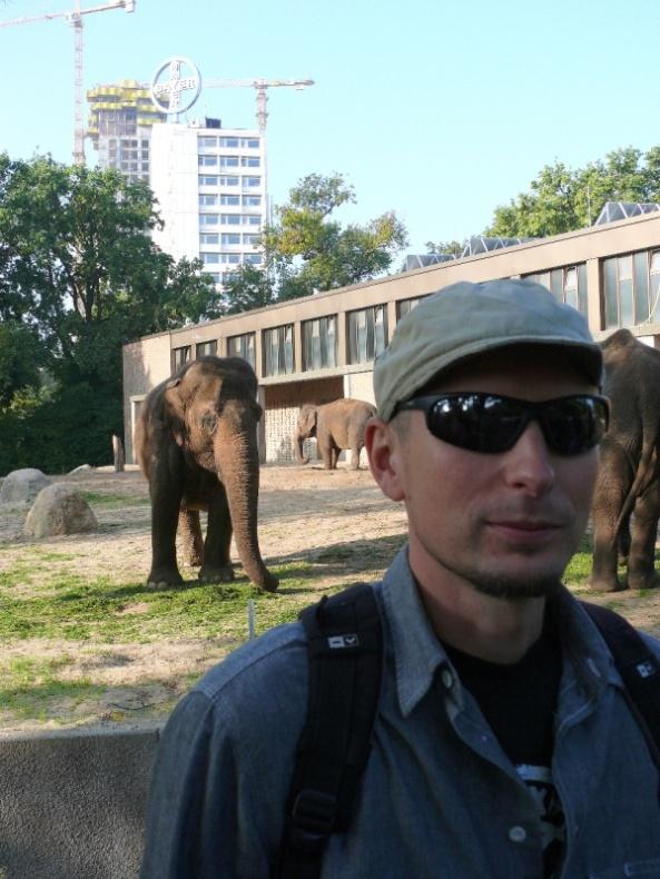 Olaf i słonie - zoo Berlin