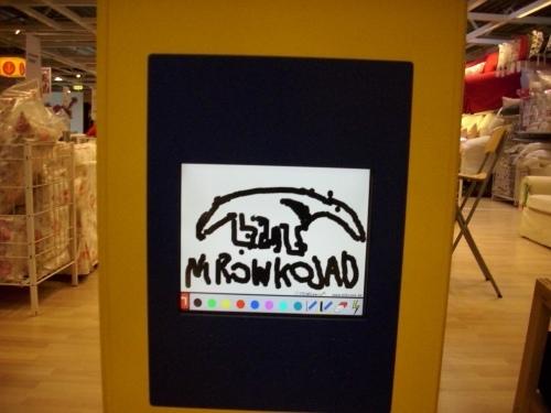 Rysunkowy mrówkojad z IKEA
