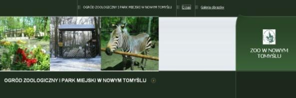 Strona internetowa nowotomyskiego zoo
