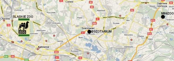 Zoomapa Górnego Śląska - wybór miejsc