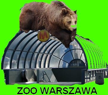 Nowe logo warszawskiego zoo - propozycja nr 1: Metroniedźwiedź