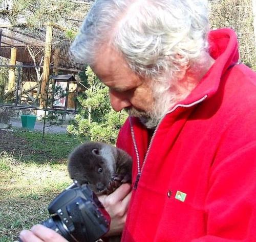 Pan Leszek Solski z wydrą
