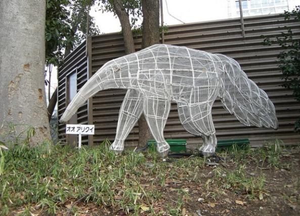 Rzeźba mrówkojada w Ueno Zoo w Tokio