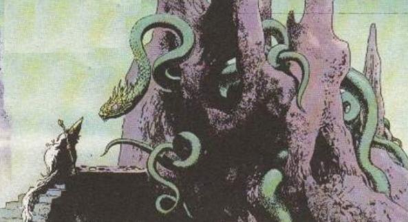 """Nidhögg - skrzydlaty wąż z mitologii skandynawskiej (tu jako bohater komiksu o Thorgalu - tom pt. """"Gwiezdne dziecko"""")"""