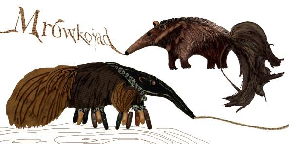Kolaż mrówkojadzi. Mrówkojady - Natka&Wojtek, opracowanie - Magdalena Wierzbowiecka