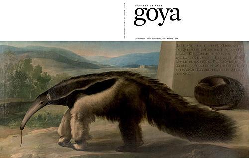 """Francisco Goya, His Majesty's Giant Anteater - reprodukcja obrazu, która ukazała się w magazynie """"Goya"""", nr lipiec-sierpień 2011, str. 336 (zdjęcie pochodzi ze strony www.museolazarogaldiano.wordpress.com)"""
