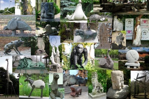 Rzeźby w polskich ogrodach zoologicznych