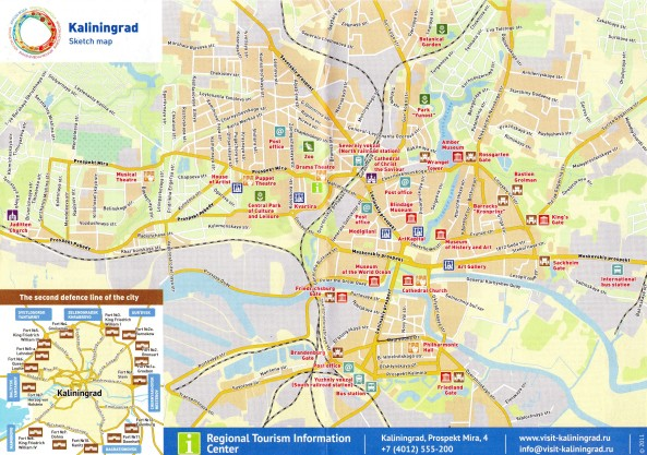 Mapa - plan miasta Kaliningrad