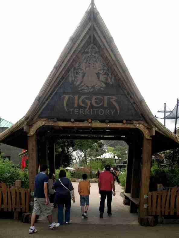 Wejście do ekspozycji tygrysiej