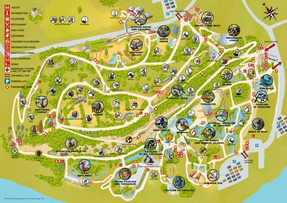 mapa praskiego zoo